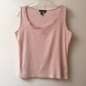 Ralph Lauren Pink Cotton Tank Top